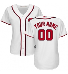 Women's Washington Nationals Majestic White Home Cool Base Custom Jersey