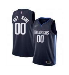 Youth Dallas Mavericks Customized Swingman Navy Finished Basketball Jersey - Statement Edition