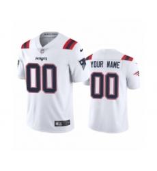 New England Patriots Custom White 2020 Vapor Limited Jersey