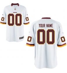 Nike Men's Washington Redskins Customized Game White Jersey