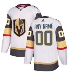 Men's Vegas Golden Knights adidas White Away Authentic Custom Jersey