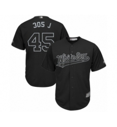 Men's Chicago White Sox #45 Michael Jordan  305 J  Authentic Black 2019 Players Weekend Baseball Jersey