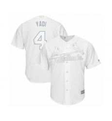 Men's St. Louis Cardinals #4 Yadier Molina  Yadi  Authentic White 2019 Players Weekend Baseball Jersey