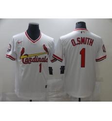 Men's Nike St. Louis Cardinals #1 Ozzie Smith White Jersey