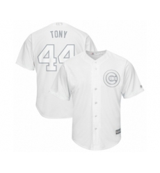 Men's Chicago Cubs #44 Anthony Rizzo  Tony  Authentic White 2019 Players Weekend Baseball Jersey
