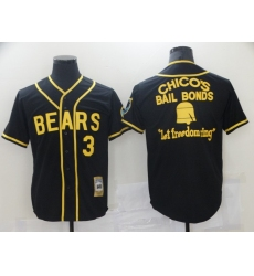 Bad News Bears #3 Chico's Bail Black Bonds - Let Freedom Ring Button-Down Baseball Jersey