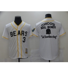 Bad News Bears #3 Chico's Bail White Bonds - Let Freedom Ring Button-Down Baseball Jersey