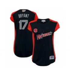 Women's Chicago Cubs #17 Kris Bryant Authentic Navy Blue National League 2019 Baseball All-Star Jersey