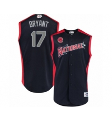 Youth Chicago Cubs #17 Kris Bryant Authentic Navy Blue National League 2019 Baseball All-Star Jersey