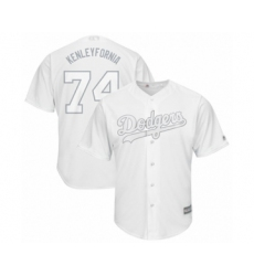 Men's Los Angeles Dodgers #74 Kenley Jansen  Kenleyfornia  Authentic White 2019 Players Weekend Baseball Jersey