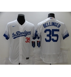 Men's Los Angeles Dodgers #35 Cody Bellinger White Elite City Player Jersey