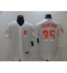 Men's San Francisco Giants #35 Brandon Crawford White 2021 City Connect Replica Player Jersey
