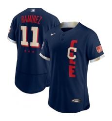 Men's Cleveland Indians #11 José Ramírez Nike Navy 2021 MLB All-Star Game Authentic Player Jersey