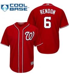 Men's Majestic Washington Nationals #6 Anthony Rendon Replica Red Alternate 1 Cool Base MLB Jersey