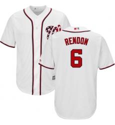 Men's Majestic Washington Nationals #6 Anthony Rendon Replica White Home Cool Base MLB Jersey