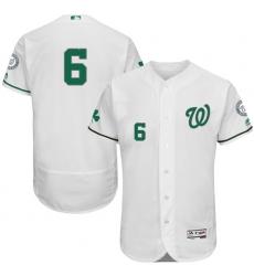 Men's Majestic Washington Nationals #6 Anthony Rendon White Celtic Flexbase Authentic Collection MLB Jersey