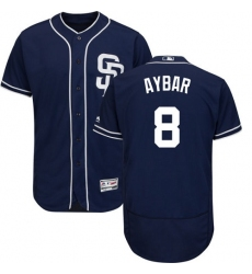 San Diego Padres #8 Erick Aybar Navy Blue Flexbase Authentic Collection Stitched MLB Jersey