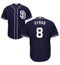 Youth San Diego Padres #8 Erick Aybar Navy blue Cool Base Stitched MLB Jersey