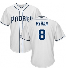 Youth San Diego Padres #8 Erick Aybar White Cool Base Stitched MLB Jersey