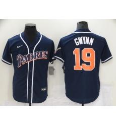 Men's Nike San Diego Padres #19 Tony Gwynn Blue MLB Jersey