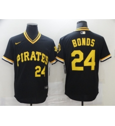 Men's Nike Pittsburgh Pirates #24 Barry Bonds Cooperstown Collection Black Jersey