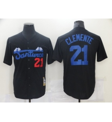 Men's Pittsburgh Pirates #21 Roberto Clemente Black Flexbase Authentic Jersey