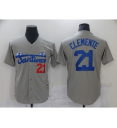 Men's Pittsburgh Pirates #21 Roberto Clemente Gray Flexbase Authentic Jersey