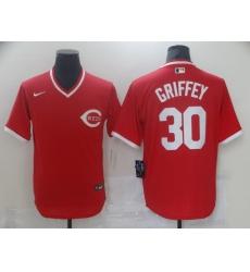 Men's Nike Cincinnati Reds #30 Ken Griffey Red Authentic Jersey