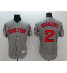 Men's Boston Red Sox #2 Xander Bogaerts Gray Replica Home Jersey