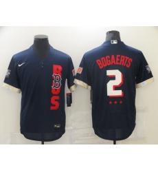 Men's Boston Red Sox #2 Xander Bogaerts Navy 2021 All-Star Game Replica Jersey