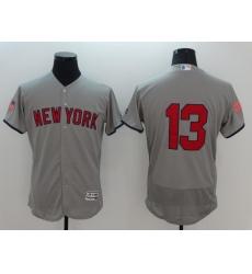 Men's Boston Red Sox #13 Hanley Ramirez Gray Independence Jersey