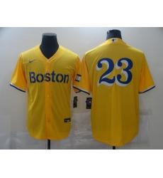Men's Boston Red Sox #23 Blake Swihart Nike Gold-Light Blue 2021 City Connect Replica Player Jersey