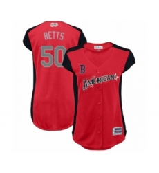 Women's Boston Red Sox #50 Mookie Betts Authentic Red American League 2019 Baseball All-Star Jersey