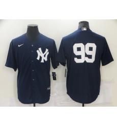 Men's New York Yankees #99 Aaron Judge Authentic Navy Blue Nike Jersey