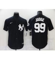 Men's New York Yankees #99 Aaron Judge Black Throwback Jersey