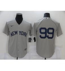 Men's New York Yankees #99 Aaron Judge Gray Game 2021 Field of Dreams Jersey