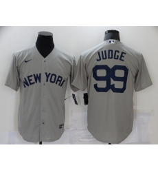 Men's Nike New York Yankees #99 Aaron Judge Gray Game 2021 Field of Dreams Jersey