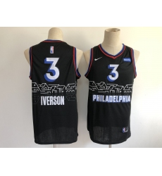 Men's Philadelphia 76ers #3 Dana Barros Nike Black 2020-21 Swingman Jersey