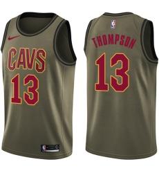 Men's Nike Cleveland Cavaliers #13 Tristan Thompson Swingman Green Salute to Service NBA Jersey