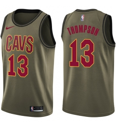 Youth Nike Cleveland Cavaliers #13 Tristan Thompson Swingman Green Salute to Service NBA Jersey