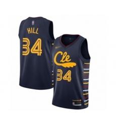 Men's Cleveland Cavaliers #34 Tyrone Hill Swingman Navy Basketball Jersey - 2019 20 City Edition