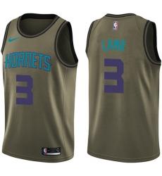 Men's Nike Charlotte Hornets #3 Jeremy Lamb Swingman Green Salute to Service NBA Jersey