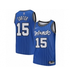 Men's Orlando Magic #15 Vince Carter Authentic Blue Hardwood Classics Basketball Jersey