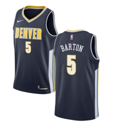 Men's Nike Denver Nuggets #5 Will Barton Authentic Navy Blue Road NBA Jersey - Icon Edition