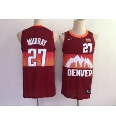 Men's Denver Nuggets #27 Jamal Murray Nike Red City Player Jersey