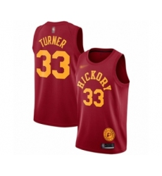 Men's Indiana Pacers #33 Myles Turner Authentic Red Hardwood Classics Basketball Jersey