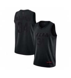 Men's Houston Rockets #34 Hakeem Olajuwon Swingman Black MVP Basketball Jersey