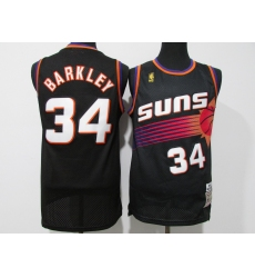 Men's Phoenix Suns #34 Charles Barkley Swingman Black NBA Jersey
