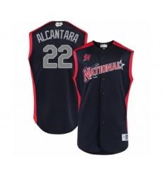 Youth Miami Marlins #22 Sandy Alcantara Authentic Navy Blue National League 2019 Baseball All-Star Jersey