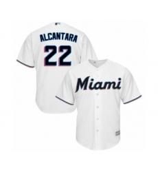 Youth Miami Marlins #22 Sandy Alcantara Authentic White Home Cool Base Baseball Jersey
